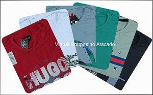 Camisetas Estampadas-Kit 5 Peças