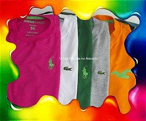 Camiseta Deluxe T-Sirht Infantil - 5 Peças