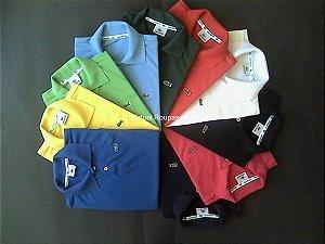Camisa Polo Piquet Infantil Masculina- Kit 5 Peças