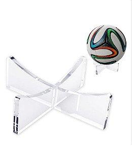 Suporte de Bola Portátil em Acrílico na cor transparente