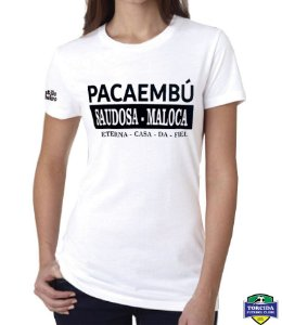 """Baby Look - Branca - Pacaembú """"Saudosa Maloca"""""""