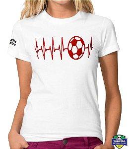 Camiseta Feminina Baby Look Red Heart