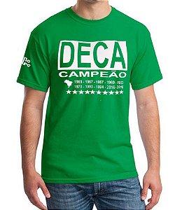 Camiseta Masculina Verde Deca Campeão Torcedor Alviverde