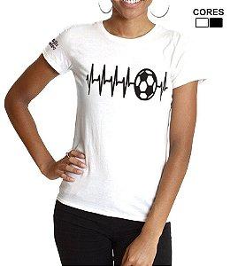 Camiseta Feminina Coração Alvinegro