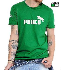 Camiseta Masculina Porco Torcedor Alviverde