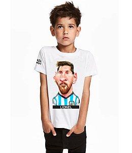 Camiseta Infantil Charge do Lionel Messi