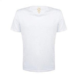 Camiseta Masculina Lisa Estilo Boleiro cor branca