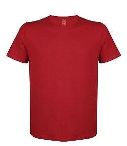 Camiseta Masculina Lisa Estilo Boleiro cor vermelha
