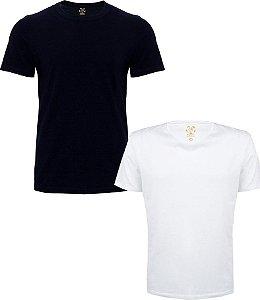 Kit com 2 Camisetas Masculinas Basicas Estilo Boleiro