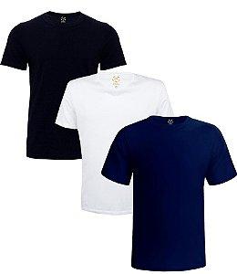 Kit com 3 Camisetas Masculinas Basicas Estilo Boleiro