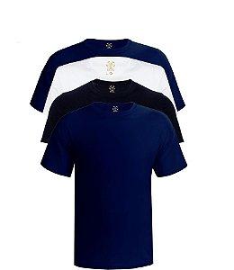 Kit com 4 Camisetas Masculinas Basicas Estilo Boleiro