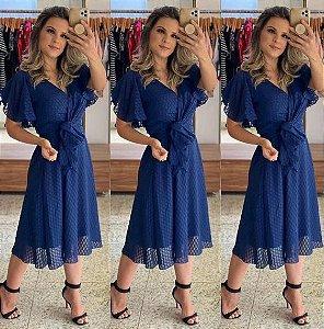 Vestido Midi De Festa Azul Felicia