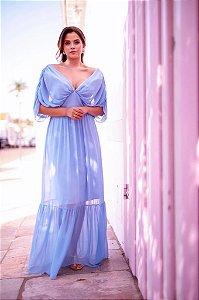 Vestido De Festa Longo Azul Serenity Floripa Aluguel