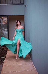 Vestido De Festa Longo Verde Tiffany Petulia Aluguel