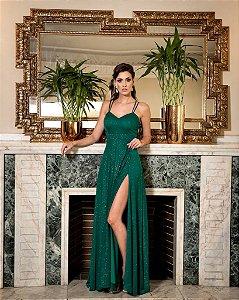 Vestido De Festa Longo Verde Rosita Aluguel