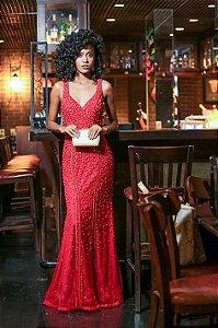 Vestido Vermelho Longo Daiana