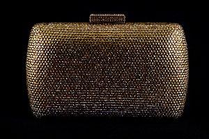 Clutch Dourado com Strass Luxemburgo Aluguel