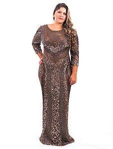 5783-Vestido Bronze Longo Cameron