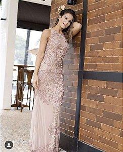 5695-Vestido rose longo Sofia-Loren