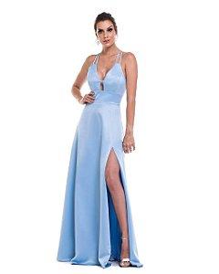 Vestido De Festa Fabiola Azul Serenity