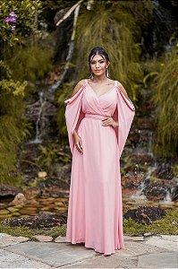 Vestido De Festa Longo Liso Tania Rosa Aluguel