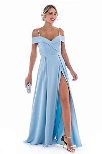 Vestido de Festa Longo Jordana Azul