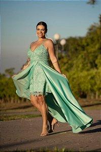 Vestido de Festa Plus Size Longo Maya Menta