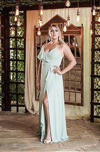 Vestido De Festa Longo Menta Diana