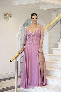 Vestido De Festa Longo Rosa Carinda
