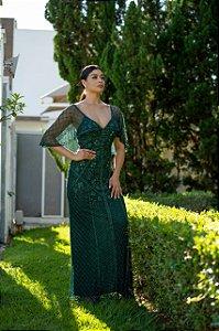 Vestido De Festa Longo Verde Lorrane Aluguel