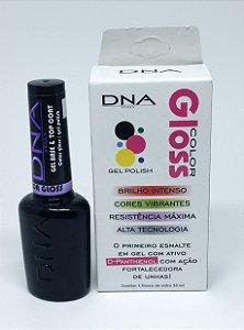 Esmalte Gel Base & Top Coat,  Secagem em cabine UV - Linha  Color Gloss  DNA Italy