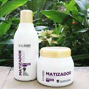 Kit Matizador Soho Guenki com Shampoo de 300ml  e Máscara com 250g