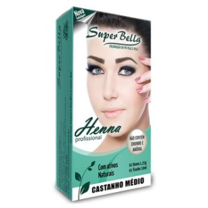 SUPER BELLA KIT HENNA CAST. MEDIO 1,25GR