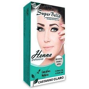 SUPER BELLA KIT HENNA CASTANHO CLARO 1,25GR