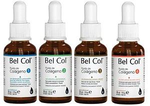 Kit Bel Col fluido de colágeno com 04 produtos