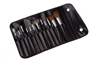 Estojo de Maquiagem Marco Boni com 12 Pincéis Profissionais