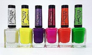 Coleção de esmaltes La Femme Carimbo Neon - 06 Cores
