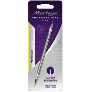 Palito Manicure Profissional Merheje - Aço Inox