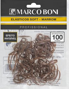 Elástico para cabelo Marco Boni Marrom, Efeito Invisível  100 UN