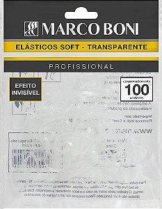Elástico Para Cabelo Marco Boni Soft Transp. efeito Invisível 100 UN