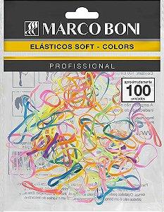 Elásticos Para Cabelo Marco Boni Soft Colors 100 UN