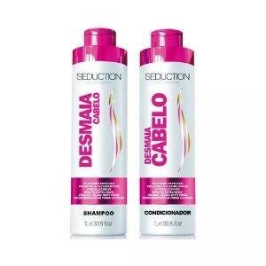Kit Desmaia Cabelo Seduction, Shampoo e Condicionador 1Litro