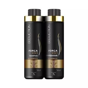 Kit Shampoo e Condicionador Seduction Força 10X1 Mandioca 1L