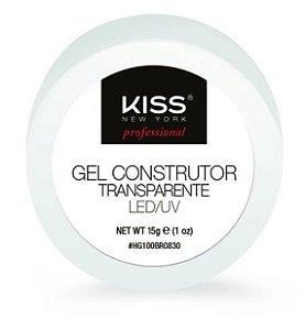 Gel Construtor para unhas Transparente Kiss LED/UV 15GR