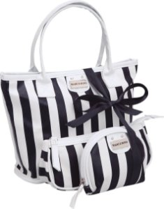 Kit com 03 Necessaire Black and White Marco Boni 6068