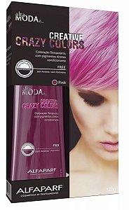 Tonalizante Creative Crazy Colors Pink Alta Moda 120g - Alfaparf