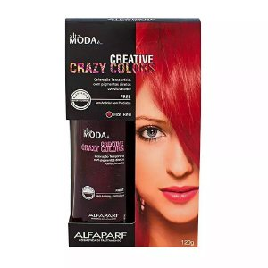 Tonalizante Creative Crazy Colors Hot Red Alta Moda 120g - Alfaparf