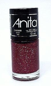 Esmalte Gliter Carmim Anita 10 ml