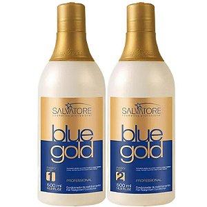 Progressiva sem Formol Salvatore Blue Gold 500ml + Máscara