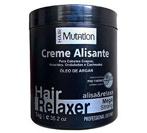 Creme Alisante Relaxante Hair Mutation Com Óleo de Argan 1Kg